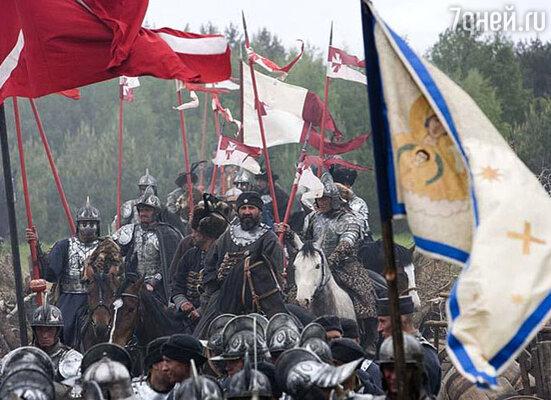 Кадр из фильма. Сцена войны.