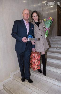 Музыкант Алексей Кортнев с женой Аминой