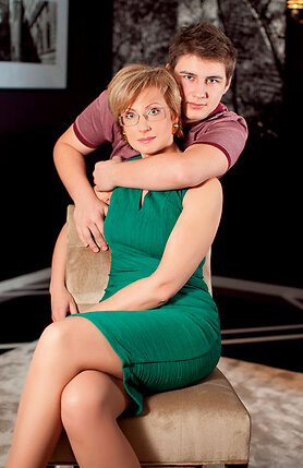 Элеонора Филина с сыном Владом