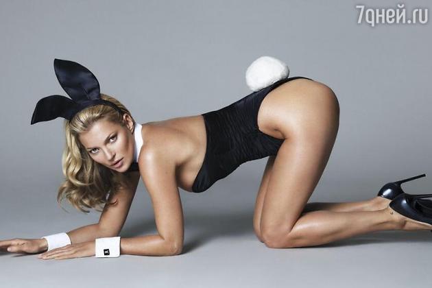 Кейт Мосс для Playboy в образе сексуального кролика