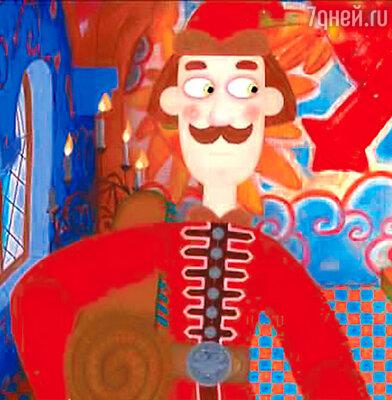Кадр из анимационного фильма про Федота-стрельца по сказке Леонида Филатова