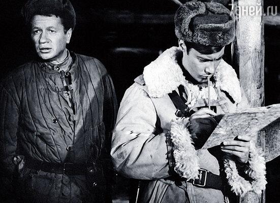 С Леонидом Быковым в фильме «Аты-баты, шли солдаты...»