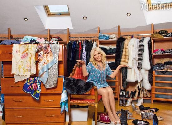 В гардеробной