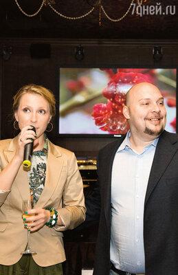 Тост от Яны Чуриковой и ее супруга Дениса Лазарева...