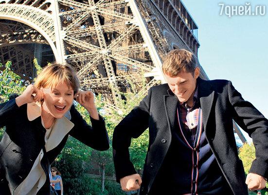 Ирина Розанова и Павел Воля на съемках в Париже