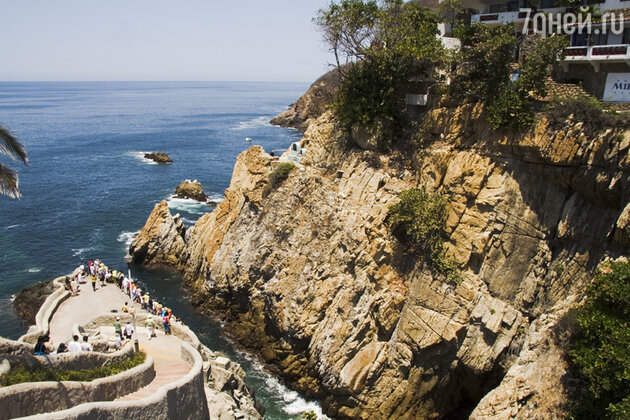 Разлом скал Кебрады, Акапулько, Мексика