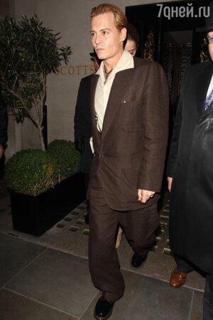 Джонни Депп в Лондоне, октябрь 2013 год