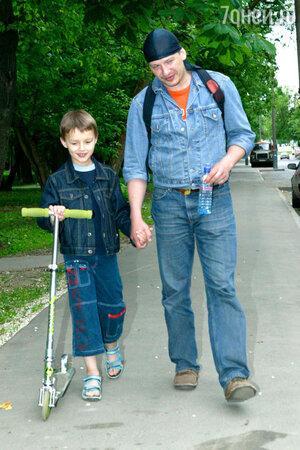 Дмитрий Марьянов с сыном Данилой