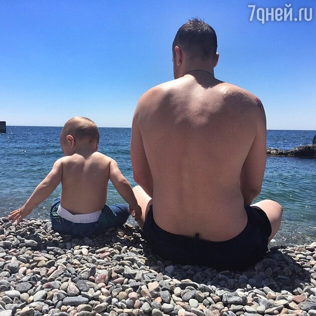 Алексей Чадов с сыном Федором