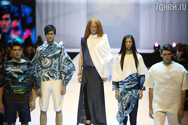 Данила Поляков - модель  показа  конкурса молодых дизайнеров фонда «Русский силуэт»
