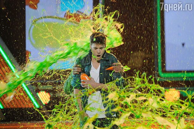 Джастин Бибер на  церемонии вручения наград Kids Choice Awards