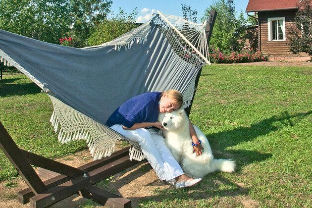 Арина Шарапова с щенком Джеком