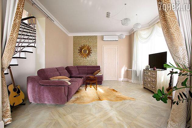 Комната отдыха в доме Алексея Чумакова и Юлии Ковальчук