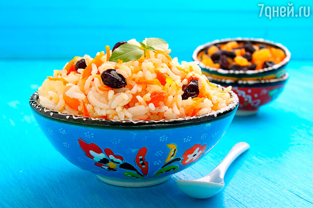 Рис с апельсинами и изюмом