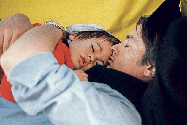 Ален Делон с сыном Энтони, 1967 г.