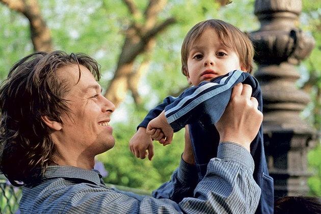 Ари Булонь с сыном Шарлем, 2001 г.