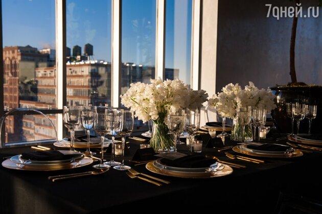 Кира Пластинина на ужине в Нью-Йорке