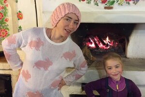 Тутта Ларсен провела с детьми осенние каникулы в стиле «этно».
