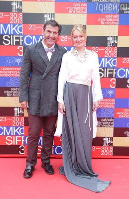 Евгений Гришковец и Виктория Толстоганова