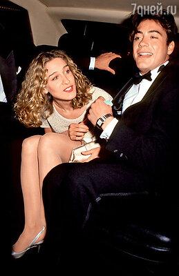 Сара Джессика Паркер семь лет пыталась перевоспитать Роберта Дауни, отучить любимого отнаркотиков и пьянства, носдалась. 1991 г.