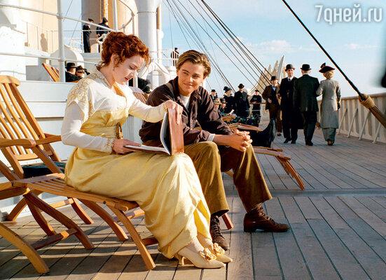 С Кейт Уинслет в картине «Титаник»