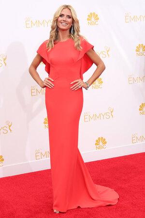 Хайди Клум в платье от Zac Posen и украшениями от Lorraine Schwartz