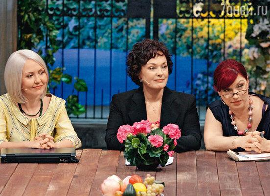 С Василисой Володиной и Ларисой Гузеевой на съемках программы «Давай поженимся!»