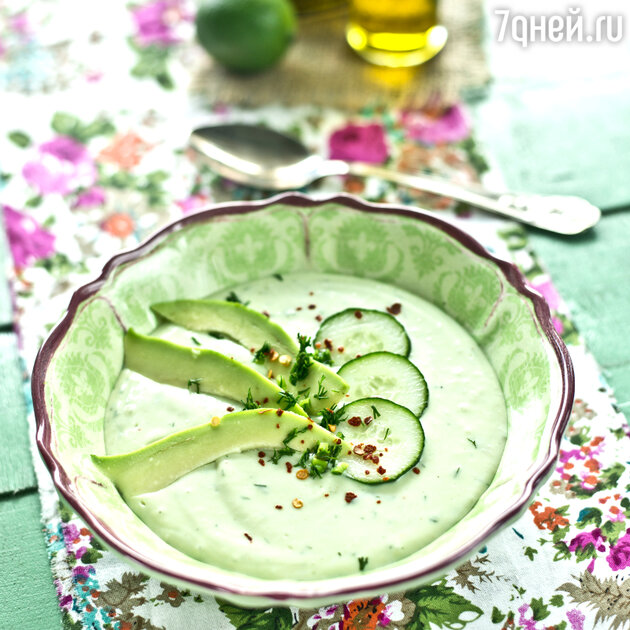 Суп из огурцов и авокадо: рецепт основного блюда