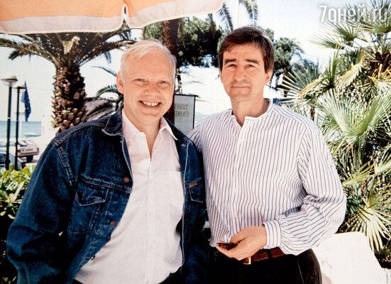С американским актером Сэмом Уотерстоном во время работы над фильмом «Пленник земли». Лос-Анджелес, 1991 г.