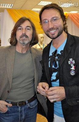 Никас Сафронов и стилист Дмитрий Винокуров