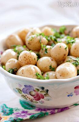 Картофель с травами