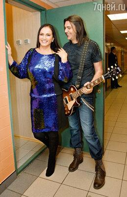 София Ротару  с гитаристом и композитором Василием Богатыревым