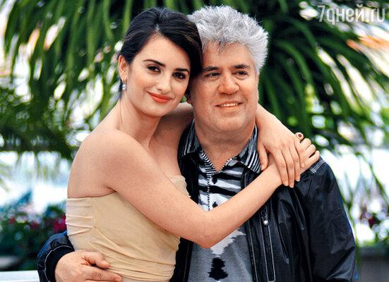 С режиссером Педро Альмодоваром на премьере фильма «Разомкнутые объятия». Канн, май 2009 г.