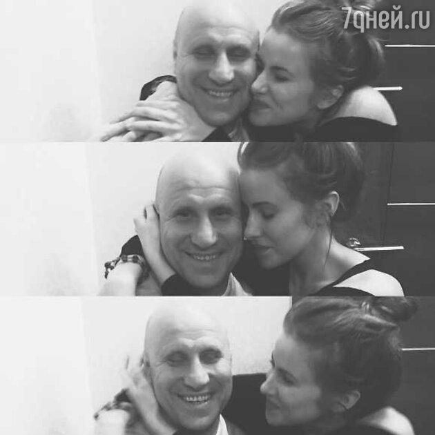 Тата Бондарчук с папой Михаилом Мамиашвили