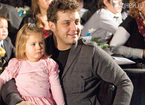 Михаил Полицеймако с дочерью Эмилией