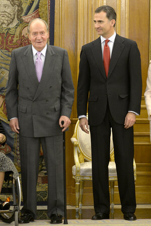 Хуан Карлос и принц Филипп