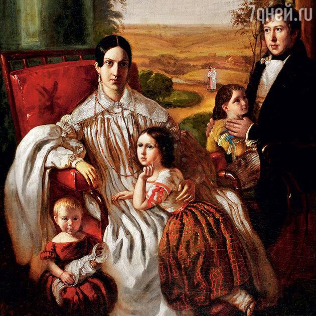 Семейный портрет Нащокиных