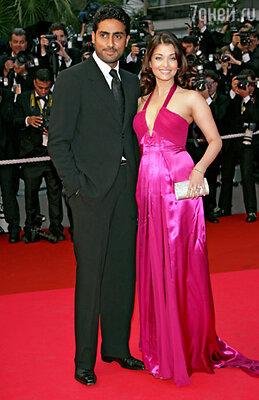 Айшвария Рай с мужем Абхишеком Баччаном