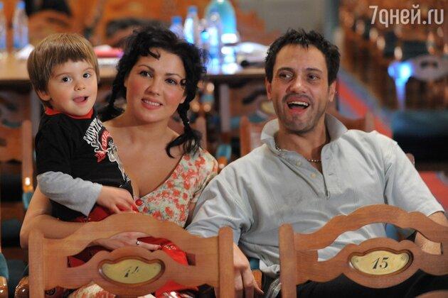 Анна Нетребко и Эрвин Шрот с сыном Тьяго