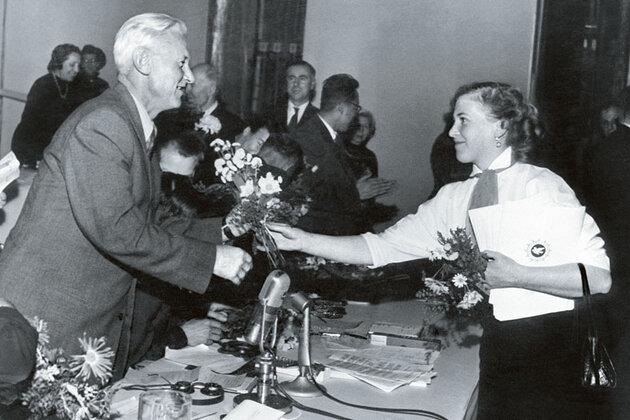 Ольга Берггольц и  Александр Фадеев