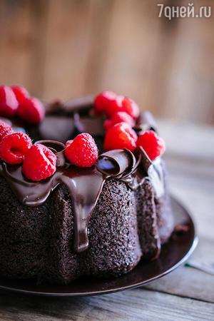 Пасхальный торт c малиной