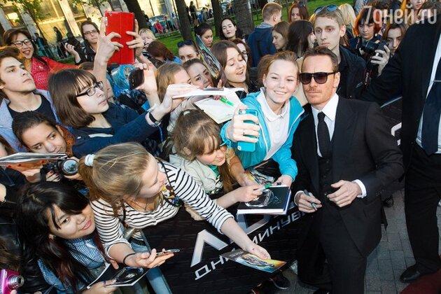 Майкл Фассбендер на премьере картины «Люди Икс: Дни минувшего будущего» в Москве