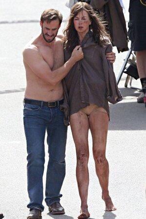 Николь Кидман на съемках триллера «Чужая страна»
