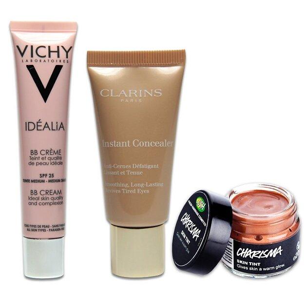 1. BB-���� Idealia, Vichy; 2. �������� ������ ������ ������ ��� ������� Instant Concealer, Clarins; 3. ���� ��� ������ Charisma, Lush