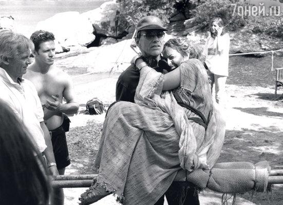 С Гретой Скакки на съемках сериала «Одиссея». 1997 г.