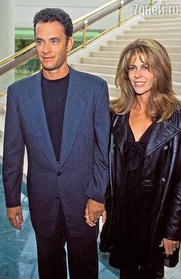 Том Хэнкс ради Риты Уилсон ушел из семьи и ни разу непожалел об этом. 1994 г.
