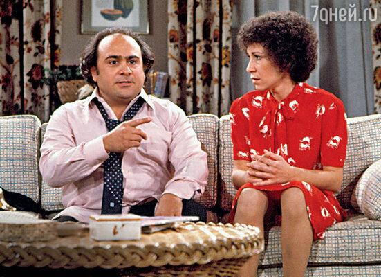 Весельчак Дэнни ДеВито очаровал свою будущую супругу Реа спервого взгляда... 1980 г.