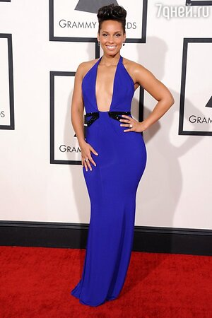 Алиша Киз в платье от Armani Priv на церемонии Grammy Awards 2014