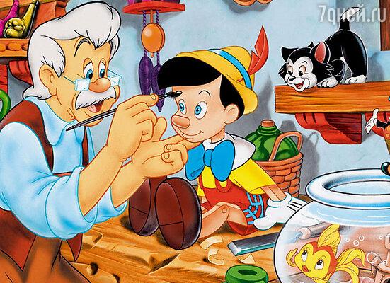 В 1940 году студия Уолта Диснея выпустила полнометражный мультипликационный фильм «Пиноккио»