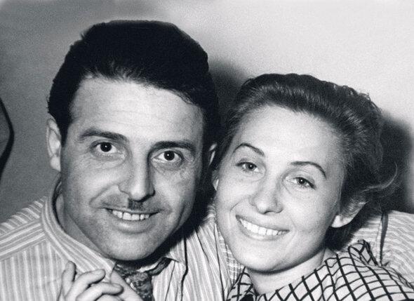Михаил и Лидия накануне свадьбы. 1956г.